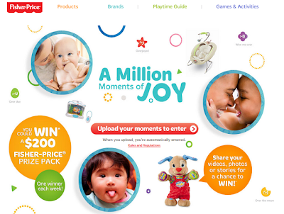 Mom in Work PJs: Fisher-Price: A Million Moments of Joy Contest