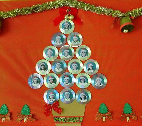Ideias de natal com reciclagem de cd 39 s pra gente mi da - Arbol de navidad artesanal ...