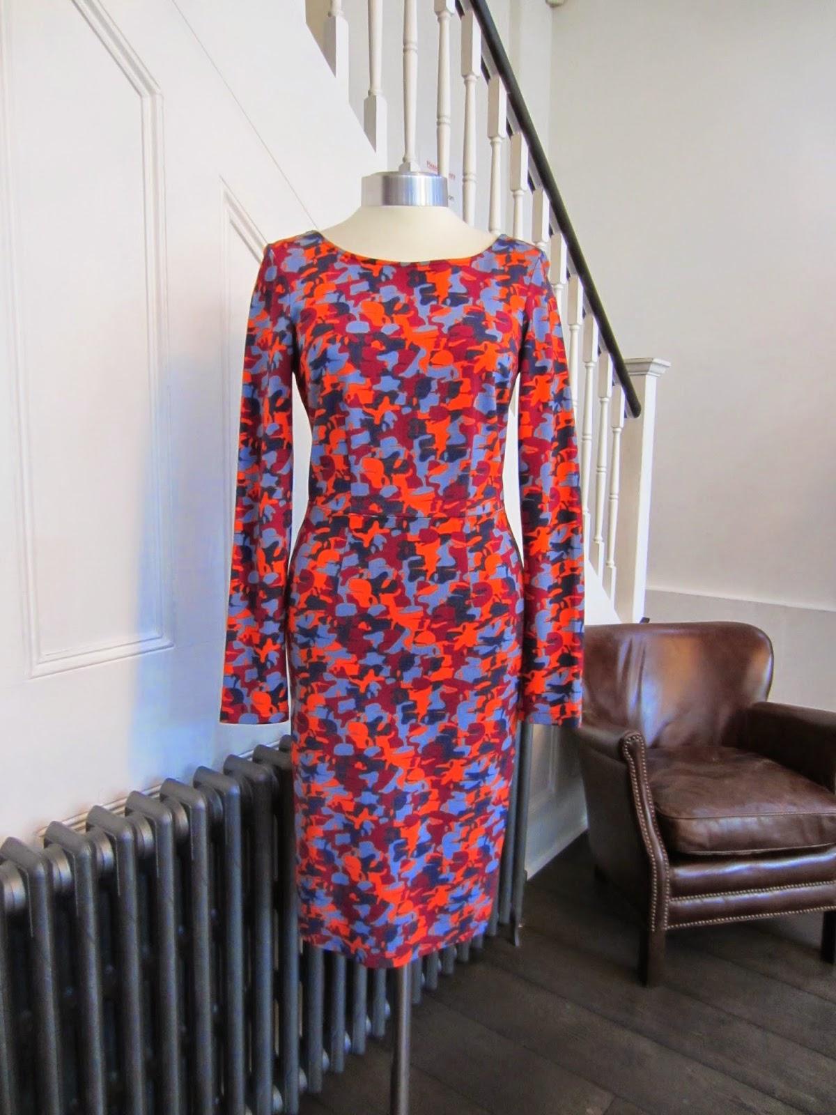 Karl Lagerfeld Dahlia Camouflage Print Dress