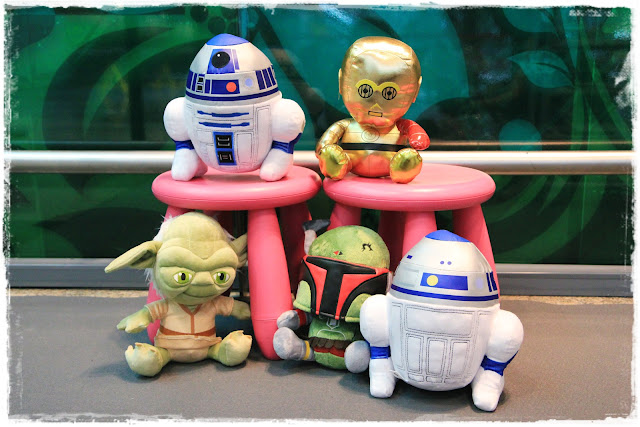 Star Wars at Changi Airport plush toys Singapore mom bloggers