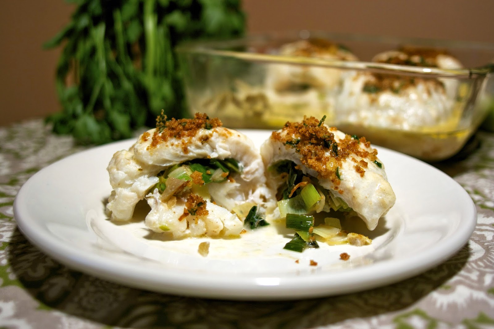 Haddock w/ Parsley Cream Sauce: simplelivingeating.com