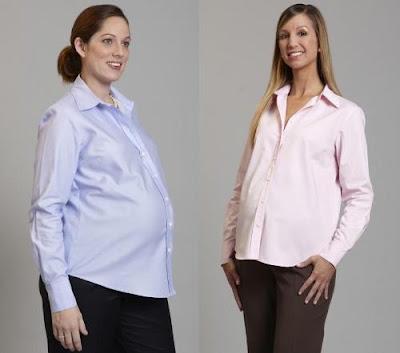 Desain Baju Kerja Ibu Hamil Model Kemaja