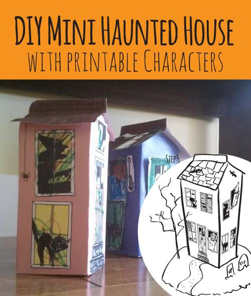 Sarah pecorino illustration diy mini haunted house milk for Homemade haunted house effects