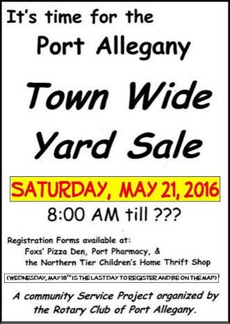5-21 Port Allegany Town-Wide Yard Sale