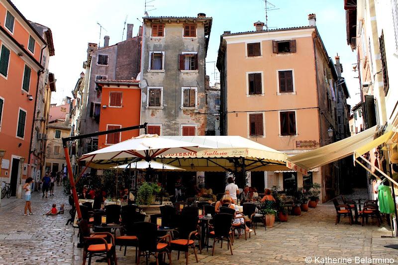 Rovinj Marble Streets Istria Croatia Travel