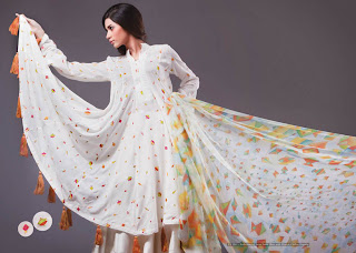 decent white salwar kameez design