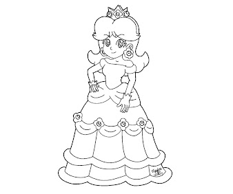 #6 Princess Daisy Coloring Page