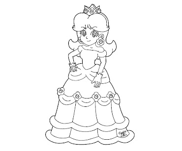 #6 Princess Daisy Coloring Page