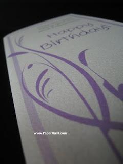 Sweet purple swirls birthday card