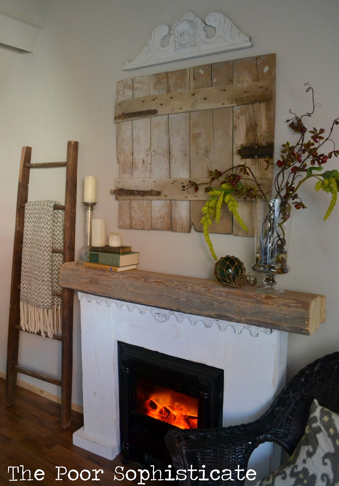 the poor sophisticate diy fireplace mantle with found objects
