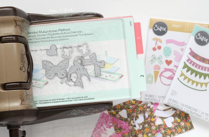 Cutting cute paper shapes using Thinlits and the Sizzix BIGkick. www.pitterandglink.com