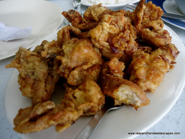 fried chicken at Caluwayan Resort