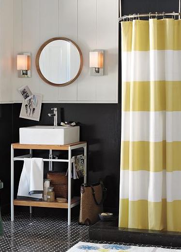 Citron shower curtain