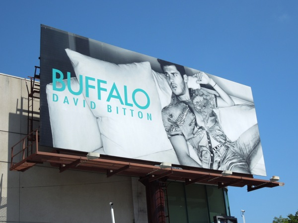 Buffalo David Bitton male model billboard 2013