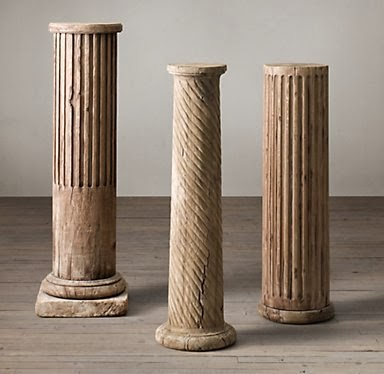... And Some Of You Suggested A Decorative Column. I Loved The Idea, And  Jokingly Suggested To John We Get One Of These From Restoration Hardware: