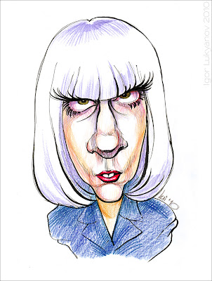 Lady Gaga caricature (cartoon)