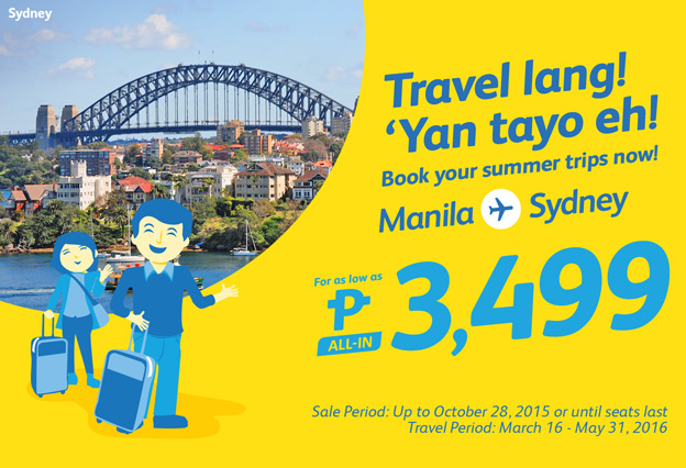 Cebu Pacific Air Manila to Sydney 2016