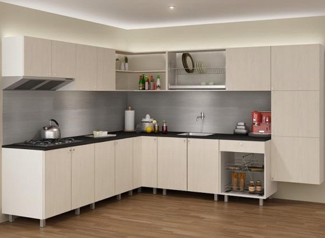 Modular kitchen cabinet ideas ayanahouse for Modular kitchen shelves designs