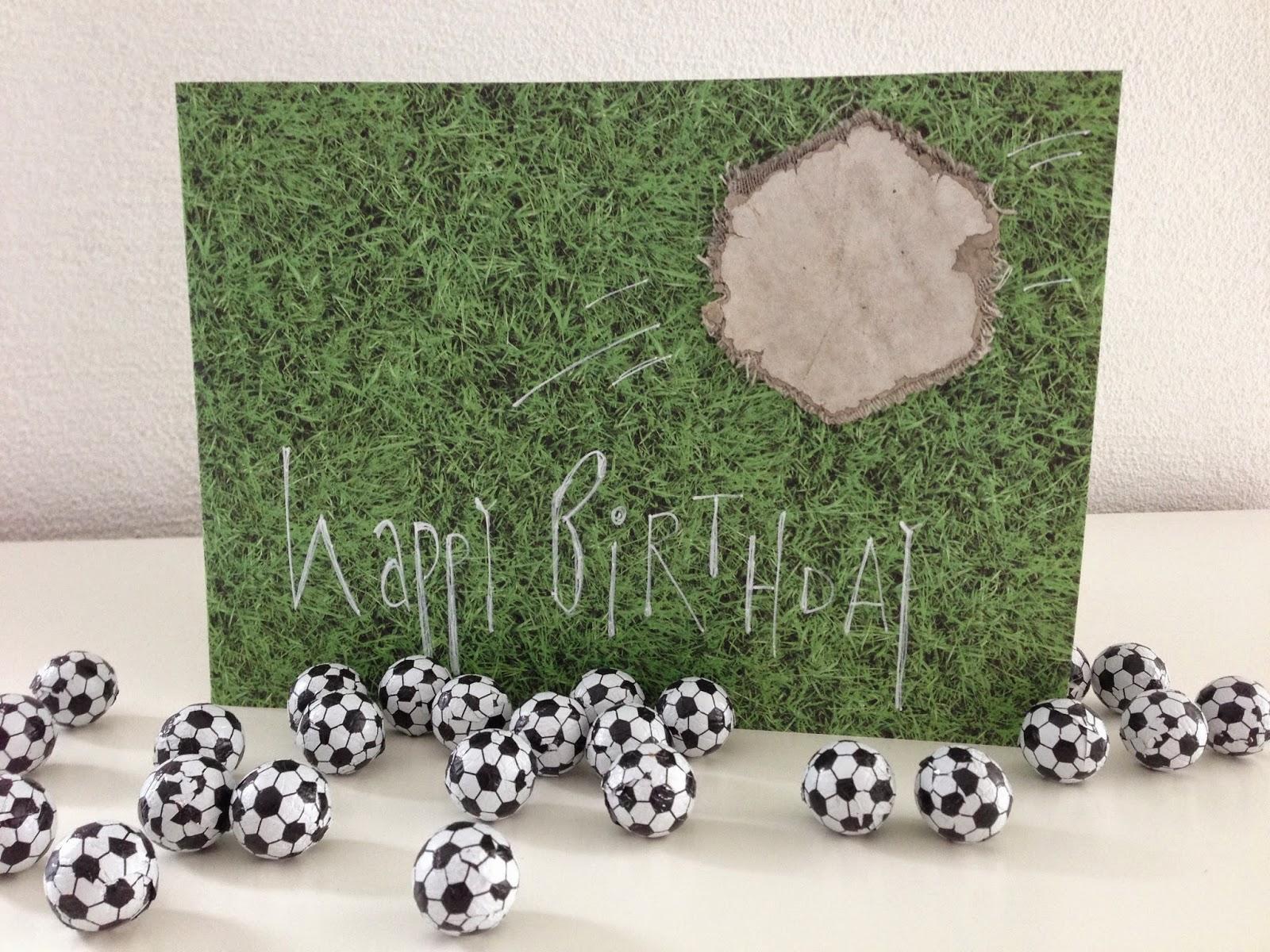 mit Strich und Faden | Happy Birthday Fussball Junge