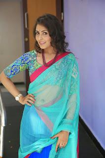 Actress Madhu Shalini Latest Pictures in Half Saree at Seethavalokanam Press Meet  26.JPG