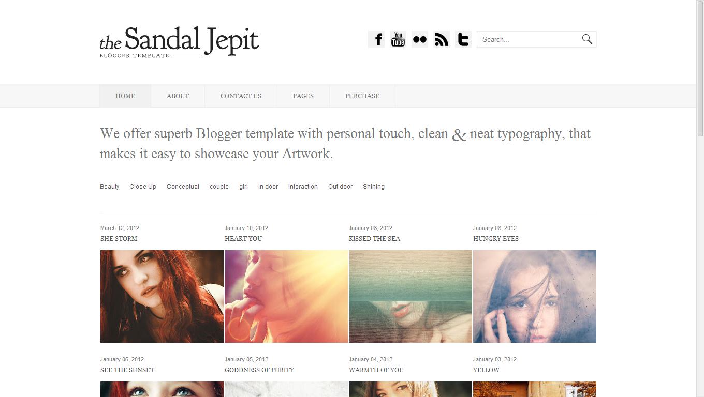 Sandal Jepit Blogger Template phù hợp cho trang bán hàng