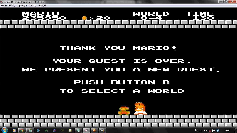 Ending Super Mario Bros