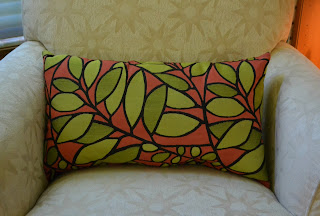 orange and green pillow