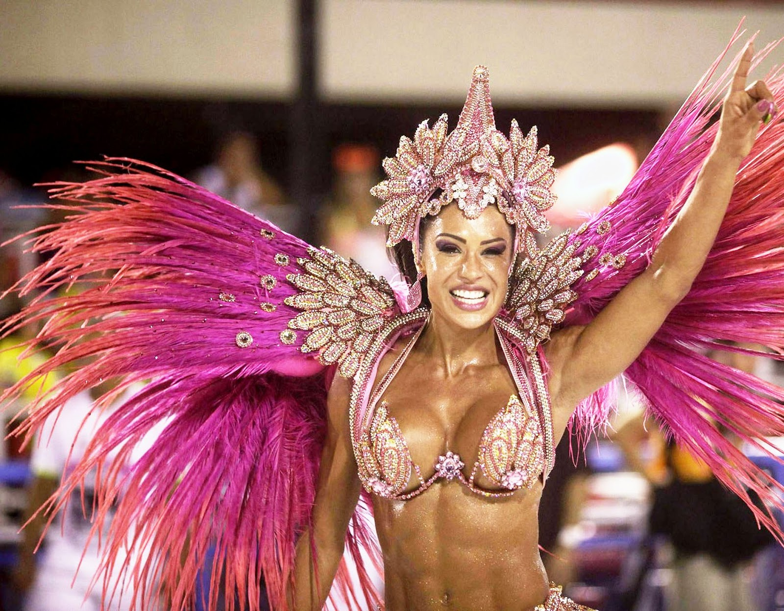Rio Carnival 2013 - Samba heat: Scantily clad Brazilian babes flaunt their assets as they dance night away