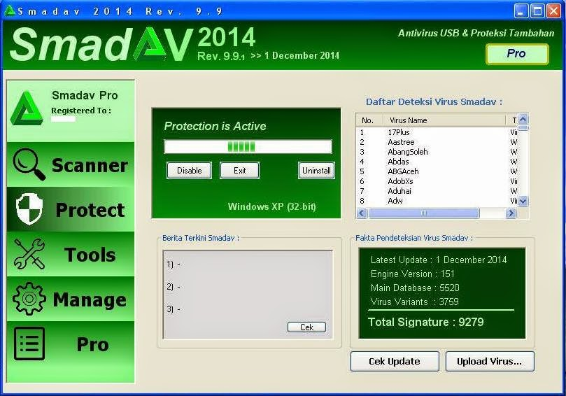 Serial Number Smadav Pro Terbaru Rev.9.9