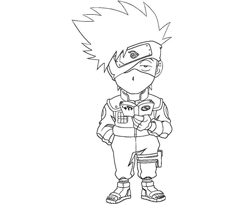 Kakashi Hatake 2 Coloring | Crafty Teenager