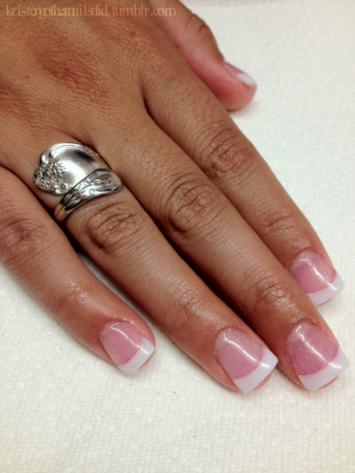 White and Pink acrylic nails tumblr new photo