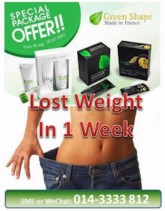 Advertisement - Lose Weight with Green Shape