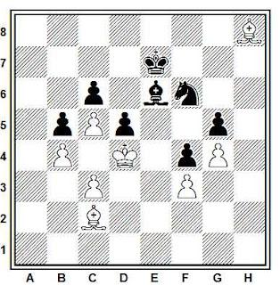 Posición de una partida de ajedrez de Joaquim Travesset (La Pobla de Lillet, 2013)