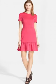 Opening Ceremony Ruffle Hem Neoprene Fit & Flare Dress