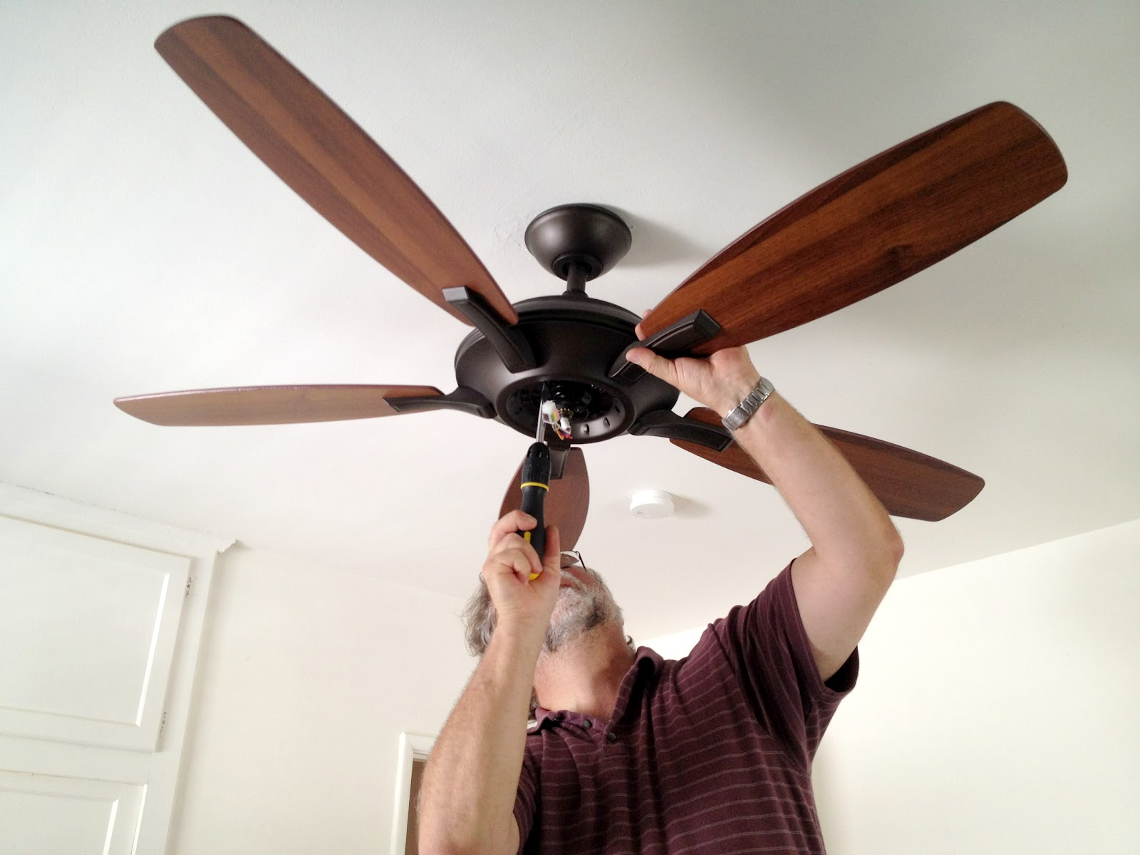 Paint Ceiling Fan : Quaintly garcia our bedroom ceiling fan paint color