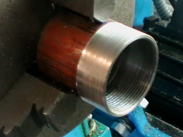 turning collet thread reciever