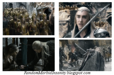 Thranduil wields a sword better than other elves