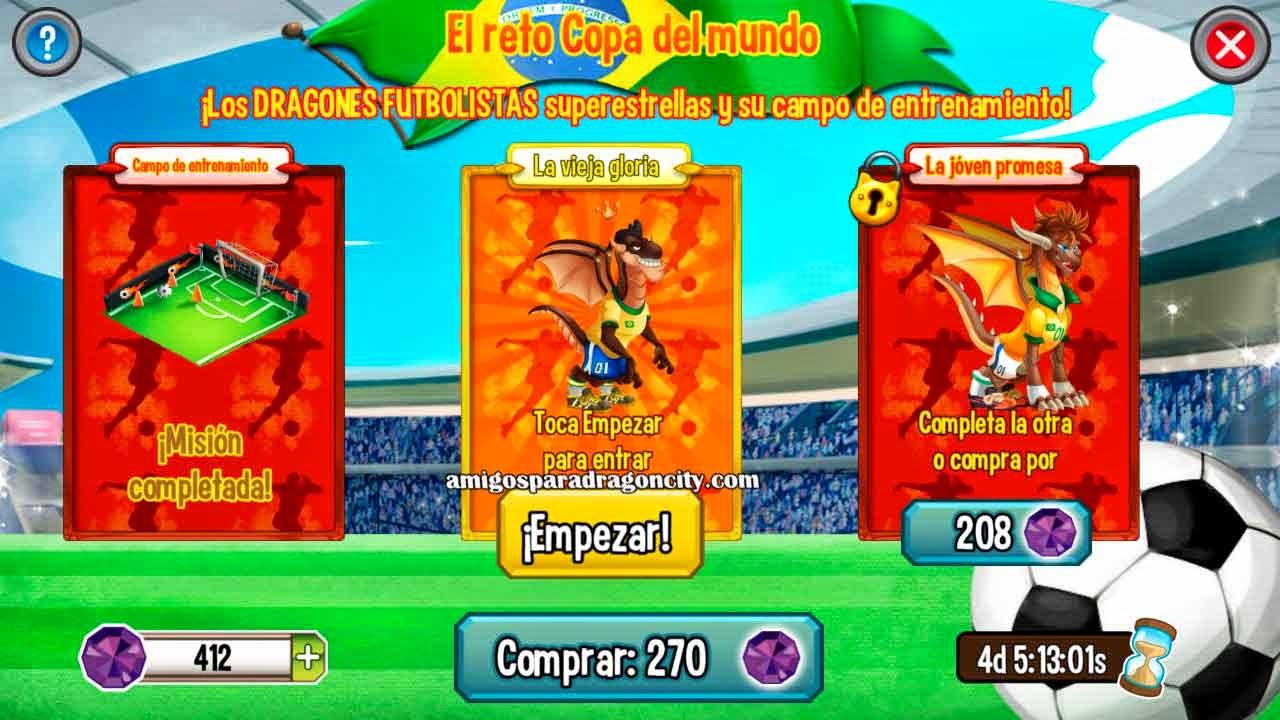 imagen de la vieja gloria del reto copa del mundo de dragon city ios y android