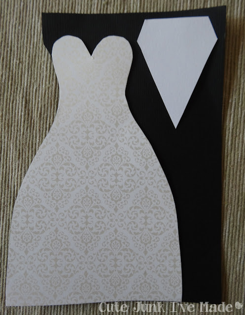 Homemade Wedding Card - shirt stencil added