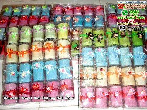 Souvenir Towel Roti Gulung Roll Cake Handuk Mika Palangka Raya