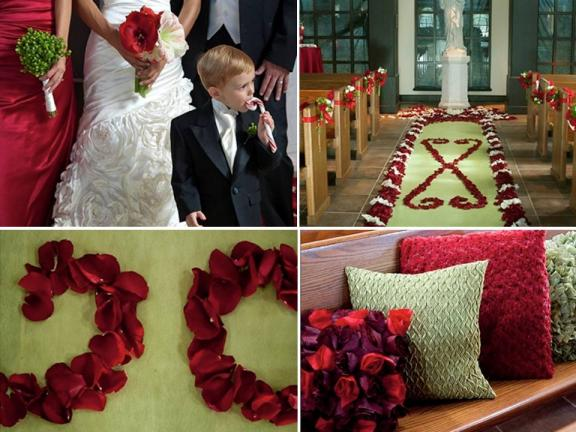 Red and Green DIY Winter Wedding 1040 PM Wedding Plans Galleries