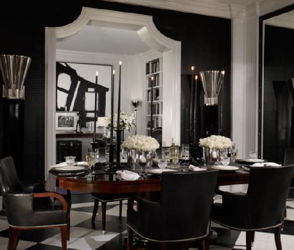 Ralph Lauren Black Dining Room