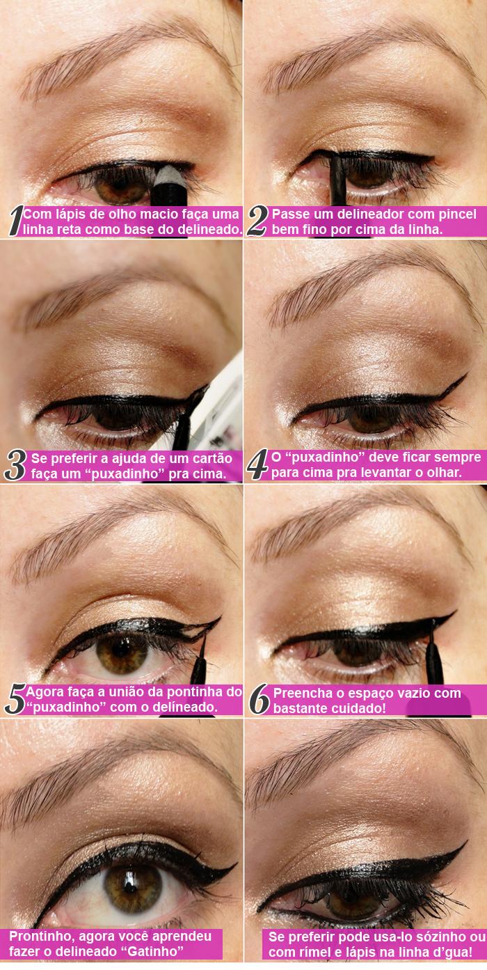Maquiagem Passo a Passo Delineado Gatinho