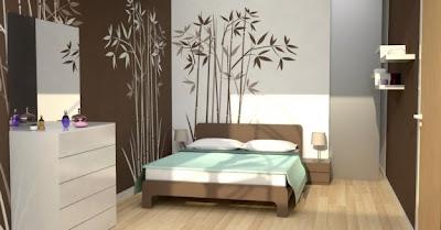 paredes de dormitorio moderno