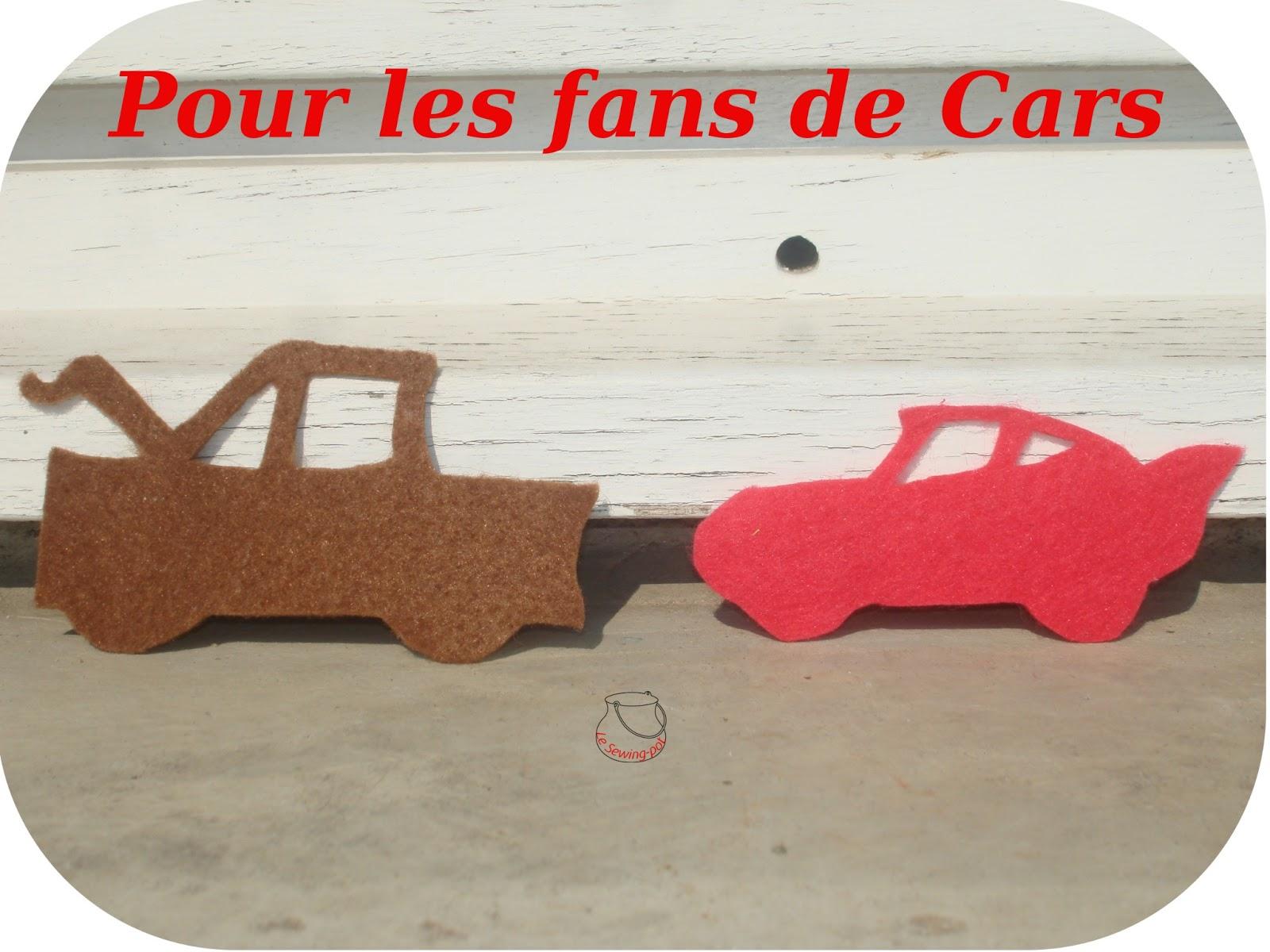 cars feutrine décoration garçon