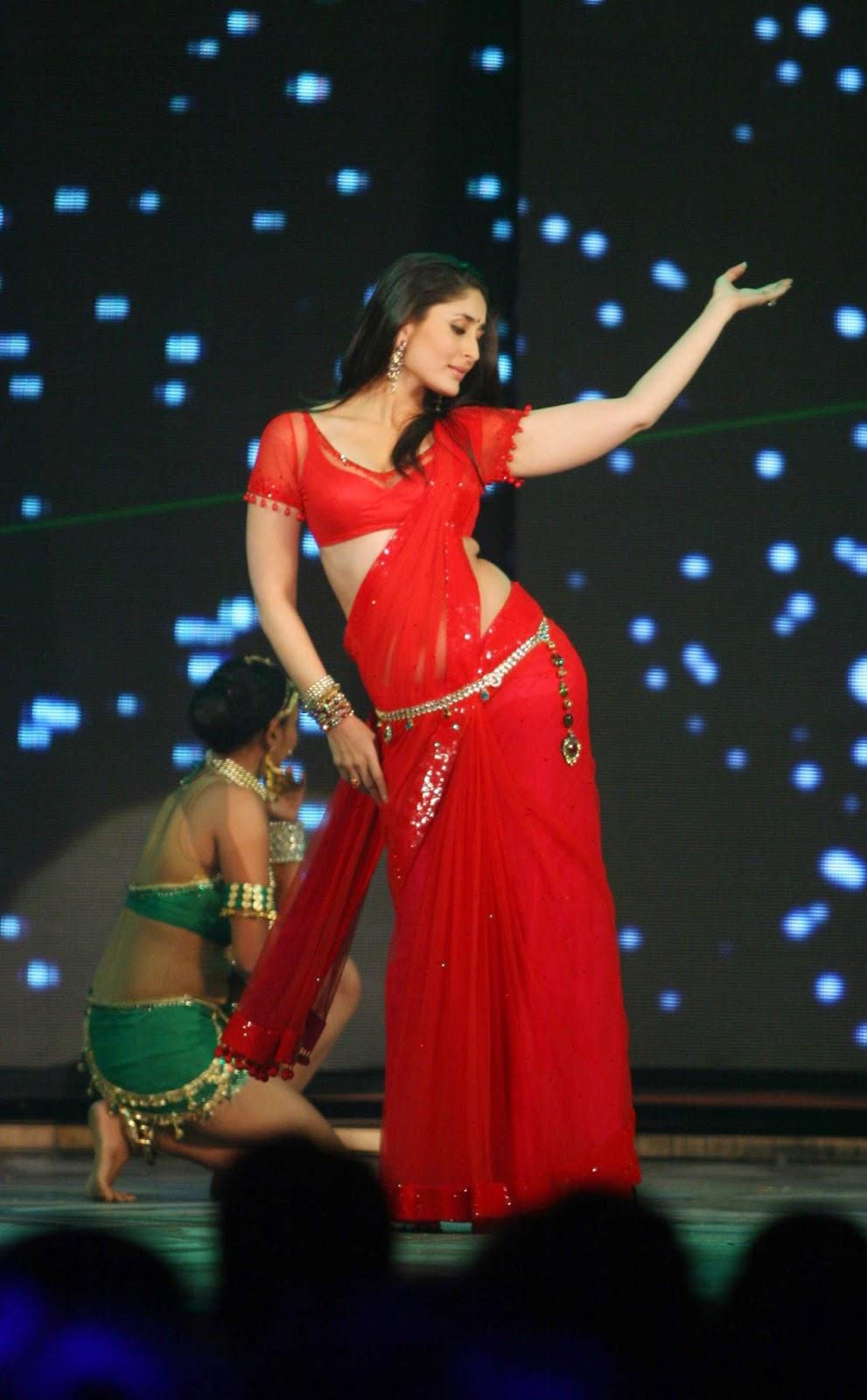 kareena kapoor in red saree at ra.one' audio launch event | stylish