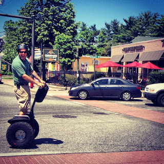 Gardella enjoying a Segway cruise through North Conway Village.