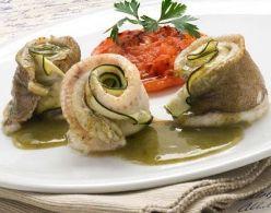 Montaditos de Gallo y Calabacín con Tomate