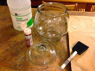 Vet School Widoow: DIY Painted Apothecary Jar for Baby Shower Centerpiece