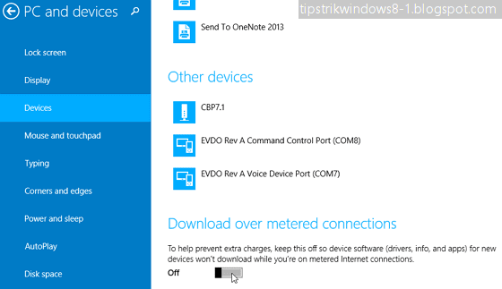 download over metered connection di windows 8.1